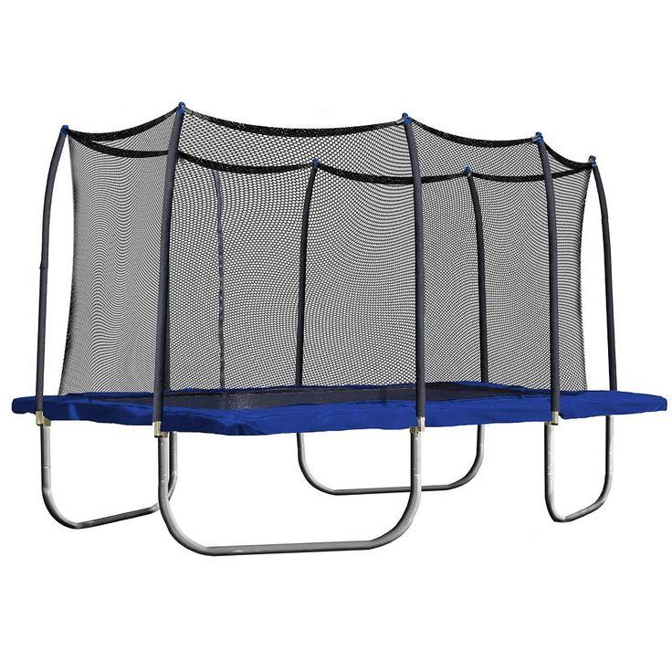 Skywalker Trampolines 15-ft. Rectangle Trampoline with Enclosure, Blue