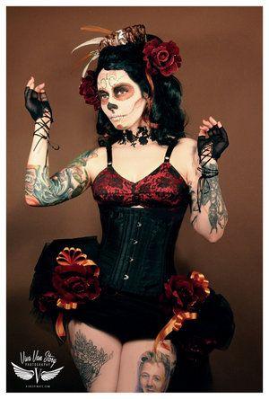 #make-up #costume #halloween: Halloween Costumes, Costume Ideas, Art, Up Style, Sugar Skull Makeup, Day Of The Dead, Tattoo, Costumes Ideas, Day Of The Dead