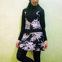 Baju Renang Muslimah Dewasa BRMD201406 Floral Print beli di ellima.web.id