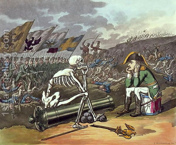 Napoleon and skeleton, 18th Thomas Rowlandson | Oil Painting Reproduction | 1st-Art-Gallery.com