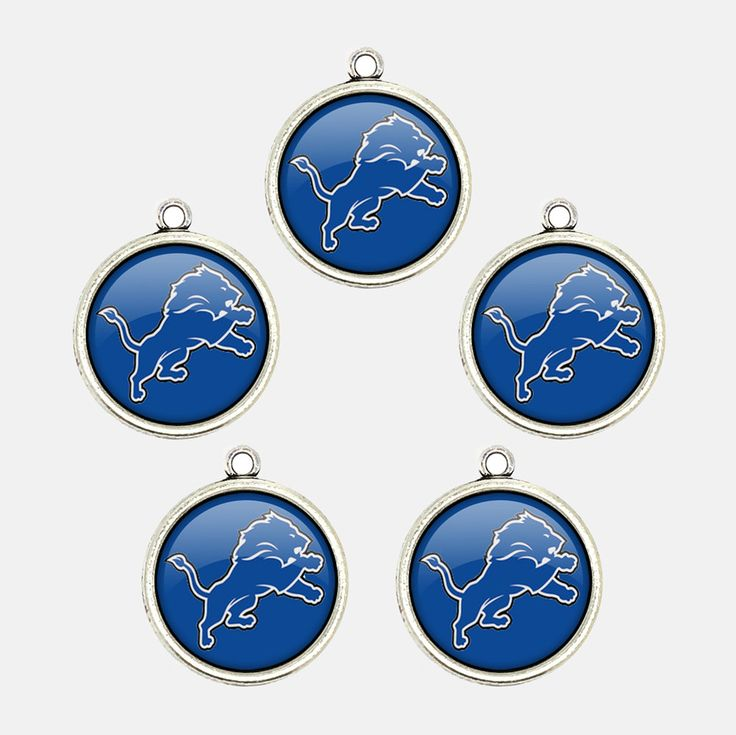 Mr.Eleven Detroit Football Team Logo Charms Jewelry Accessories Fan's Gift 2017 (FODZ-BZG) by MrElevenHandcraft on Etsy