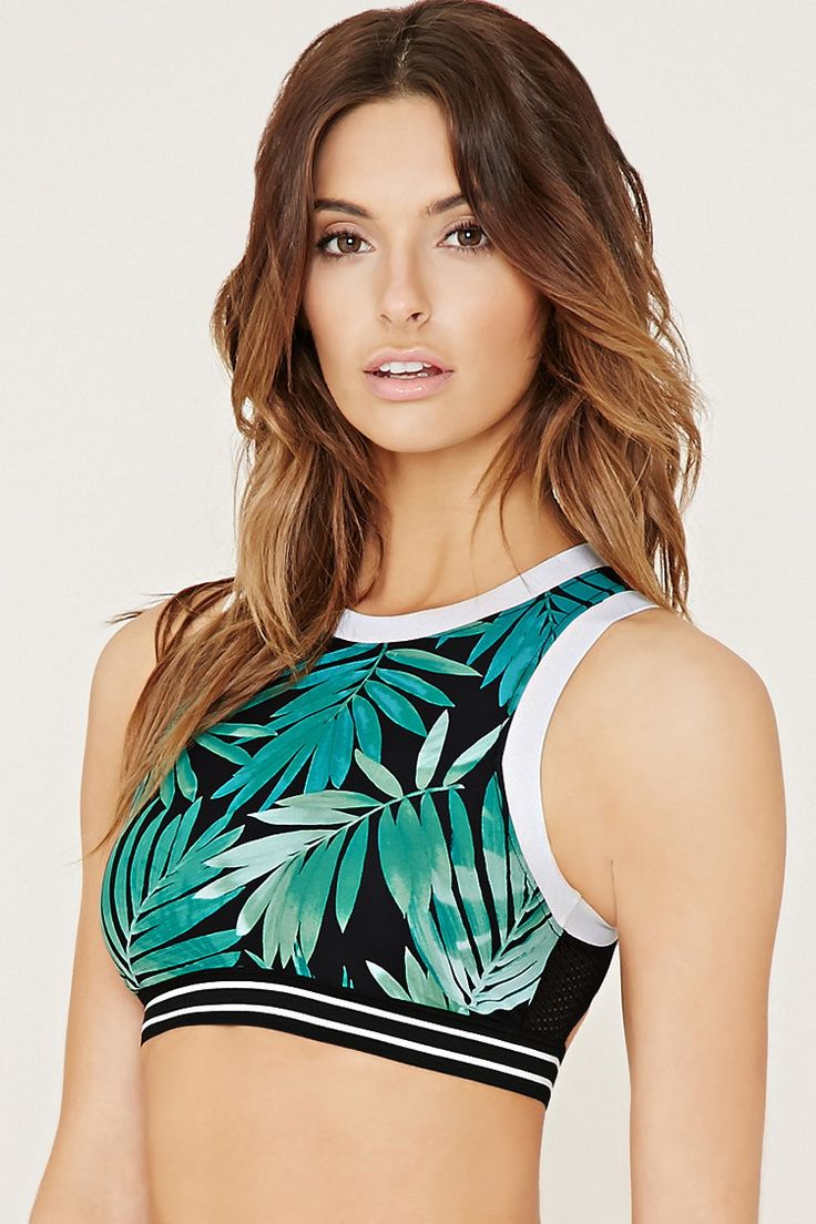 Tropical Mesh-Back Bikini Top | Forever 21 - 2000150965
