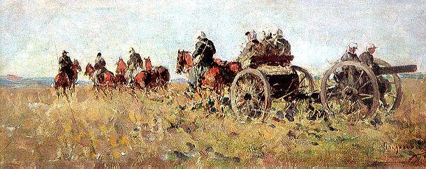 Artileristi in mars