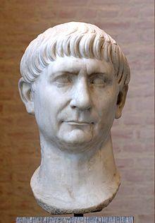Trajan's smug face.