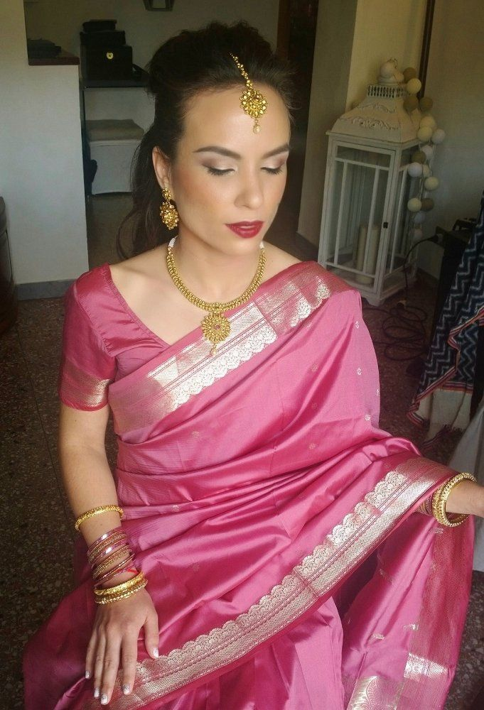 INDIAN WEDDING IN ITALY HAIR AND MAKEUP BY www.janitahelova.com
