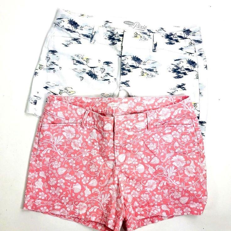 Old Navy Womens Shorts Lot of 2 Size 6 Novelty Print Pixie Shorts Too Cute! #OldNavy #CasualShorts #Casual #shorts #springbreak #springbreak2018 #shorts