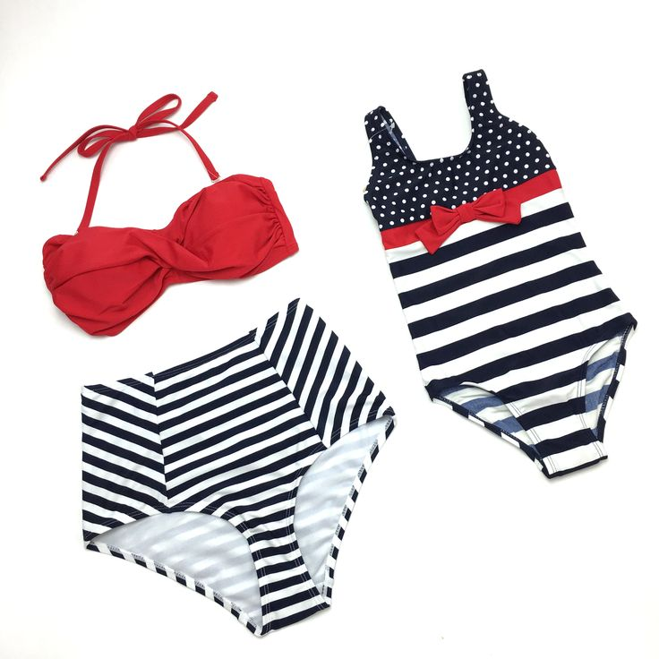 nautical swimsuits  (Mommy and Me)