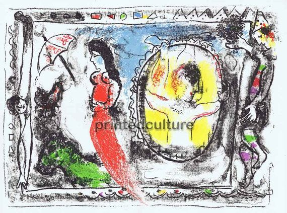 Chagall Marc Original Lithograph CHAGALL by printedculture on Etsy, $300.00