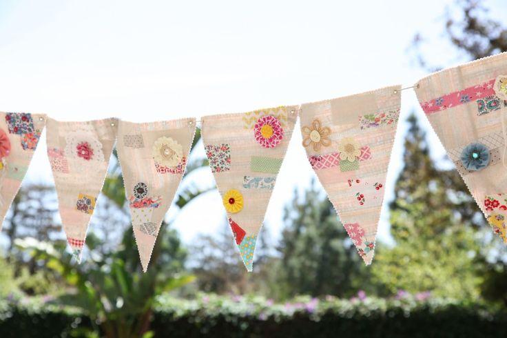 Birthday party flags   Minki's Work Table