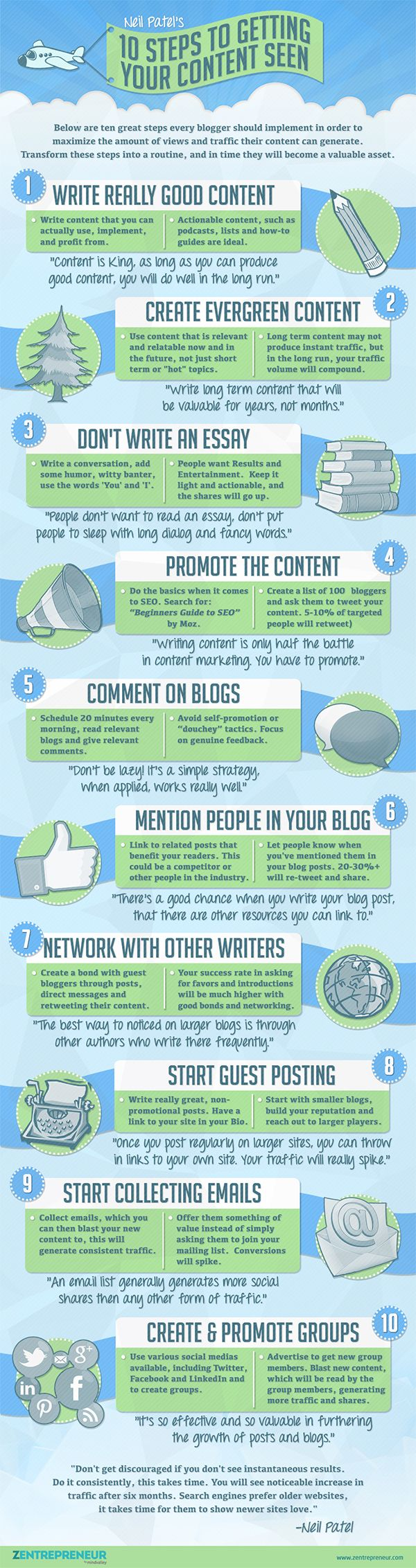 Blogging Tips 10 Steps to Generate a Ridiculous Amount of Blog Traffic #Infographic
