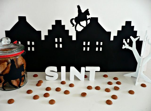 Sinterklaas silhouet van @Sweet Table Shop