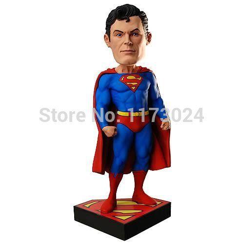 Поп-воздушными DC комиксов классический фильм / TV супергерой криптона супермен / кларк кент 7  голова молотка / bobble-головой куклы игрушки новая коробка