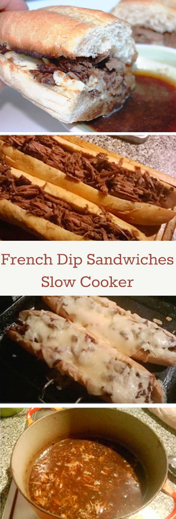 French Dip sandwiches that come straight out of the slow cooker. Yum! For more info, please visit http://www.recipezazz.com/