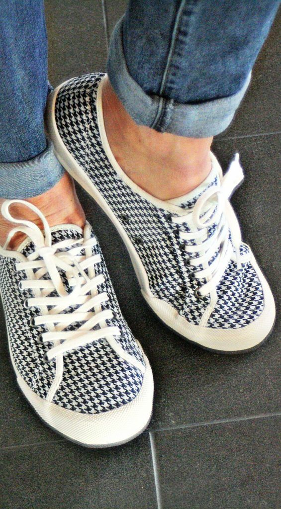 Stitch Fix SeaVees Monterey Houndstooth Lace-Up Sneakers