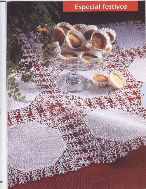 crochet مفارش طاولات كبيره - mumy50 - Álbumes web de Picasa