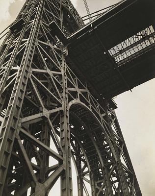 Berenice Abbott, George Washington Bridge, Riverside Drive and 179th Street Manhattan. 1936. Smithsonian American Museum of Art