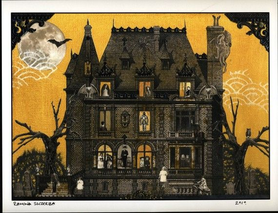 Haunted House Print