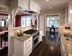 Best 20 galley kitchen redo ideas on pinterest galley kitchen remodel small kitchen bar and for Galley kitchen open to living room
