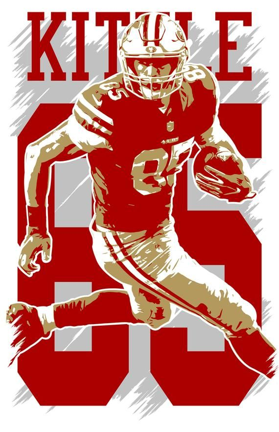"GEORGE KITTLE NEW B NFL Poster 24/"" X 36/"" inches"