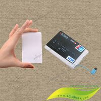 Built in cable business card design power bank 2500mah portable mobile phone…