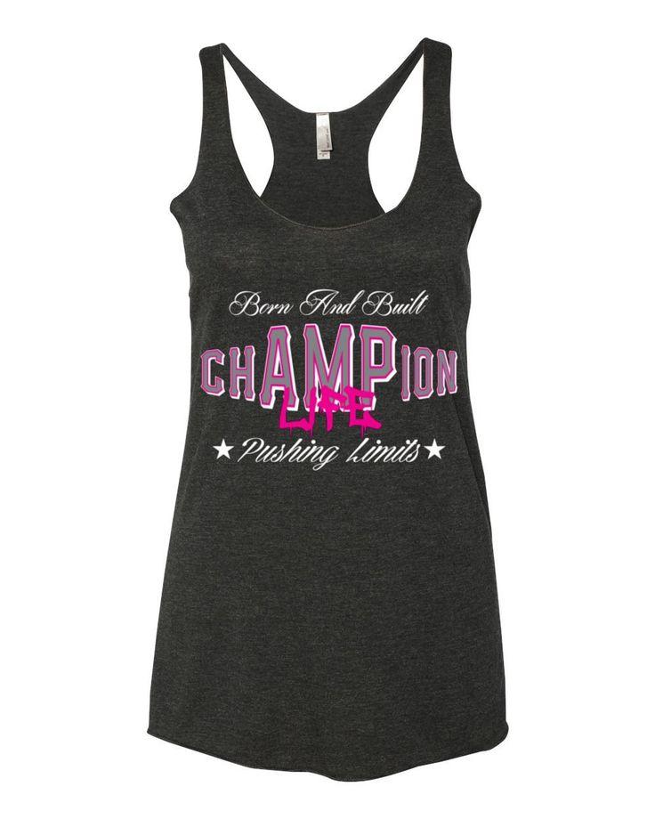 AMPUTEE LIFE® chAMPion Life LADIES TANK Vintage Black