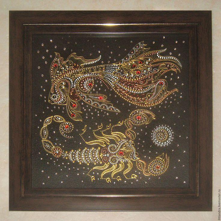 Купить Панно-оберег Союз зодиаков Роспись по стеклу - украшение интерьера, эксклюзивный подарок