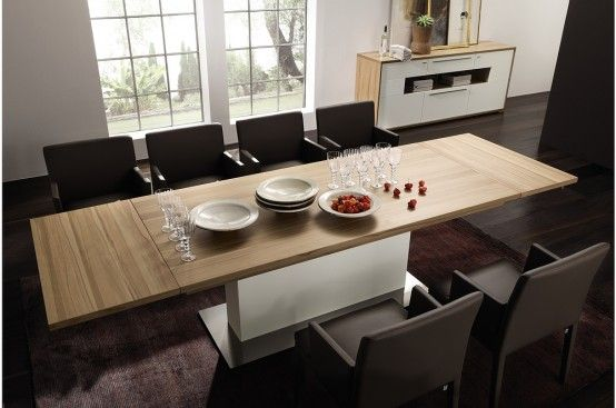 The Most New Modern Expandable Dining Tables From Hlsta Digsdigs About Modern Expandable Dining Table Remodel