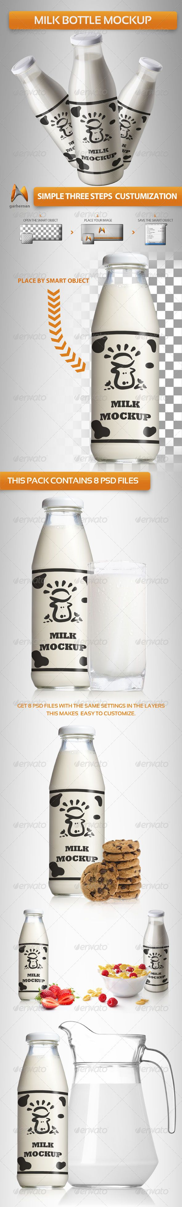 Milk Bottle Mockup - Food and Drink Packaging