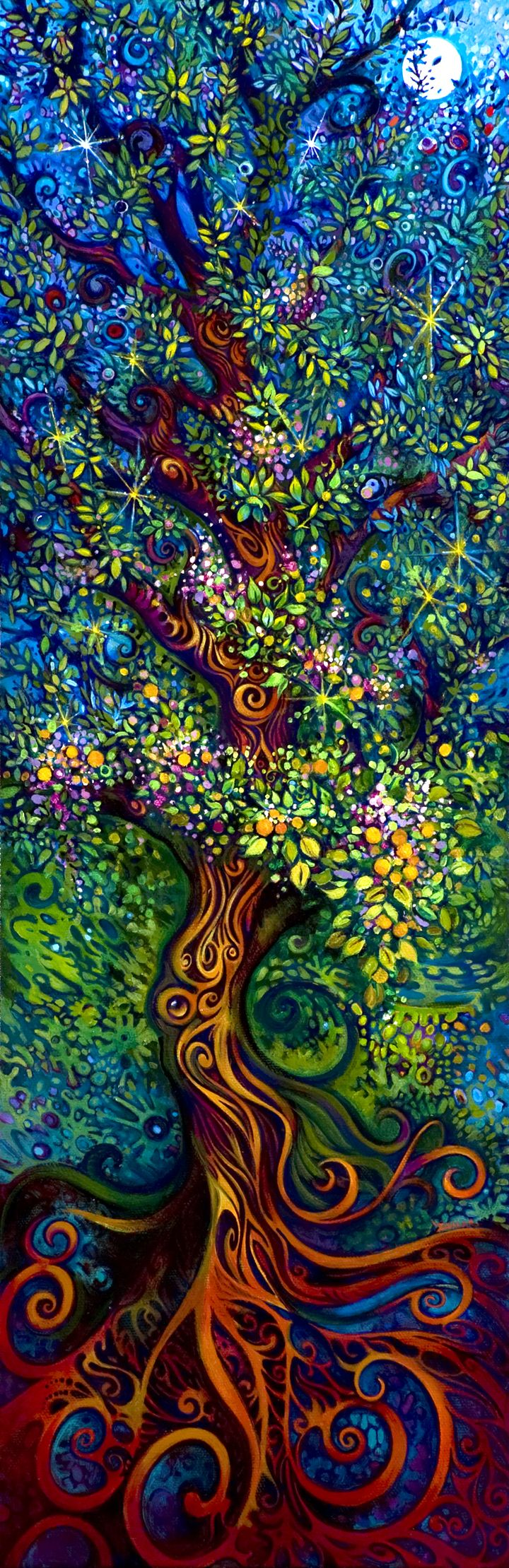 """""""Tree of Life"""" by Laura Zollar. Check out this amazing artist. http://www.laurazollar.com/"""