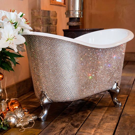 17 best images about black white bling bathroom on for Black bling bathroom accessories