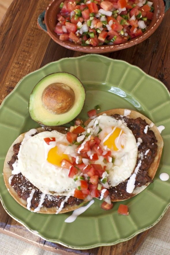 Huevos Rancheros with Chorizo Refried Black Beans