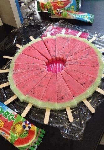 Frozen watermelon pops...fun idea...