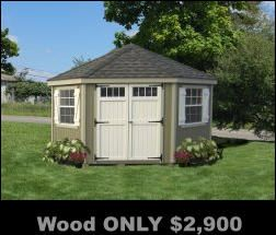 Sheds, prefab sheds, free shipping, assembly available, no interest financing, no sales tax some states, ADD to Amazon cart for DEALS and like items.