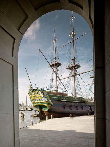 Het vernieuwde scheepvaartmuseum Amsterdam Nederland / The Netherlands