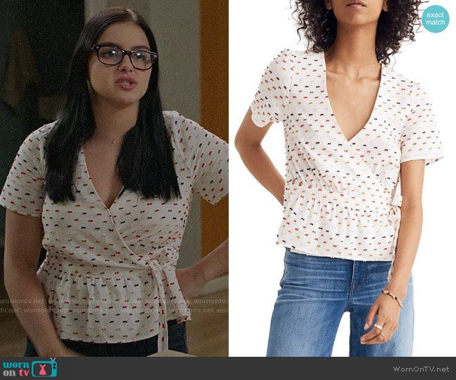Alex S Embroidered Wrap Top On Modern Family Contemporary Clothes Fashion Tv Fashion Outfits