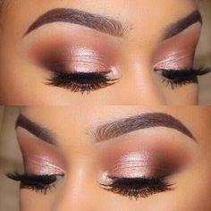 everyday glam rose gold eye | makeup @skyeasiyanbi                                                                                                                                                                                 More