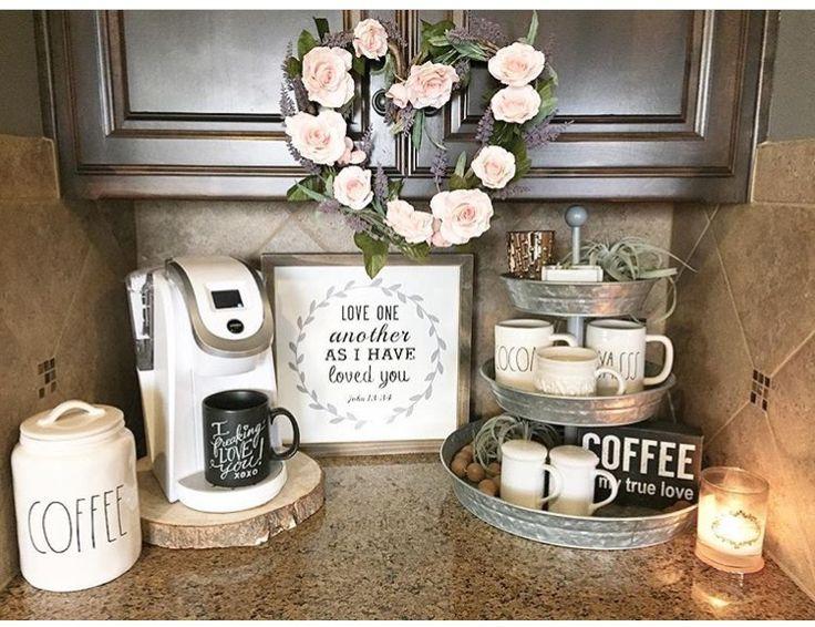 Best 25 coffee area ideas on pinterest coffee corner for Coffee station decor