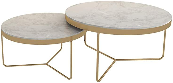 Home D Eacute Cor Furniture Marble Coffee Table Sets 2 Piece Leisure Accent Table Round Nesting Tables F Marble Coffee Table Creative Coffee Table Coffee Table