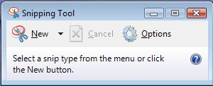 Capture a Screen Shot with the Snipping Tool in Windows Vista and Windows 7
