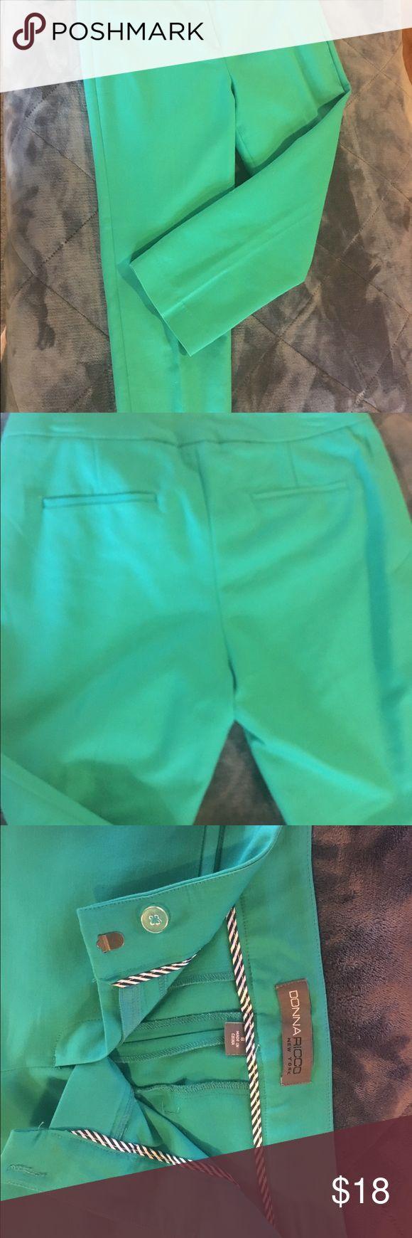 NWOT Donna Ricco capris NWOT turquoise Donna Ricco capris sz 8 in a cotton rayon blend. Cute for summer! Donna Ricco Pants Capris