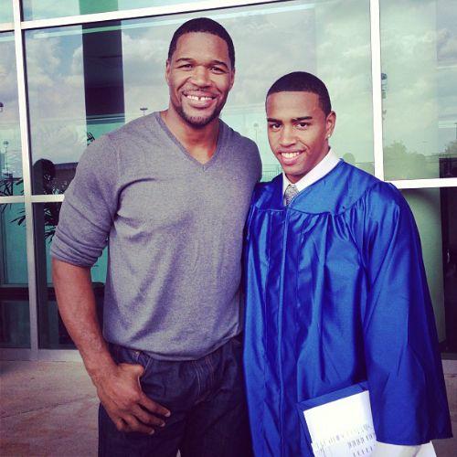MICHAEL STRAHAN JR. GRADUATES - Black Celebrity Kids