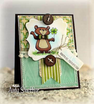 Adorable St. Paddy's Day card by Amy Sheffer, Pickled Paper Designs