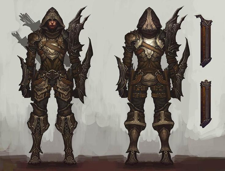 Diablo III Demon Hunter Concept Art.