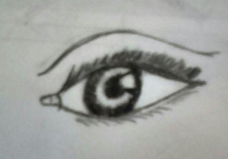 Un ojo en momentos de estrés