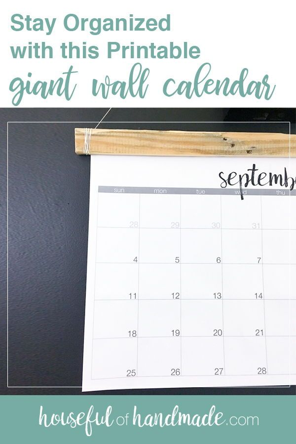 giant wall calendar planning printable giant wall calendar aug 2018 to dec 2019stay organized with this printable giant wall calendarprint size 18u2033 tall by 24u2033 wide 2019 cleaning