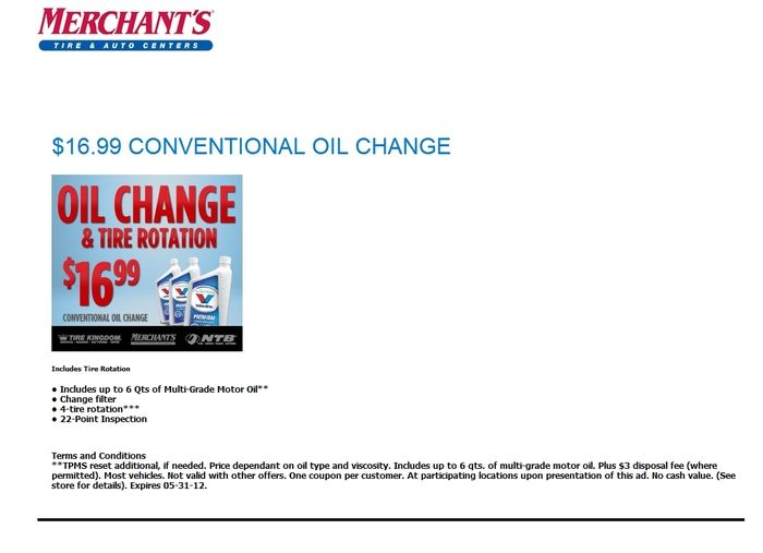 Tire Kingdom Oil Change Coupons >> Tire Kingdom Printable Oil Change Coupons Geyser Falls