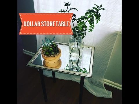 Dollar Store DIY | $5 Mirrored Table - YouTube