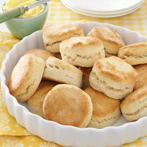 Fluffy Biscuits Recipe -If you're looking for a flaky basic biscuit, this recipe is the best. These golden-brown rolls bake up tall, light and tender. Their mild flavor tastes even better when the warm biscuits are spread with butter or jam. —Nancy Horsburgh, Everett, Ontario