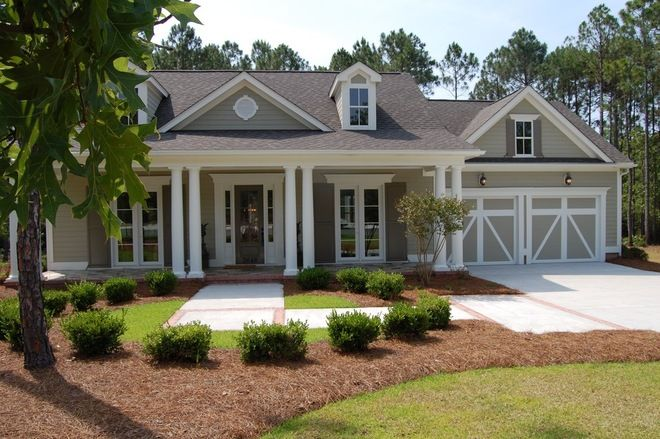 sandy hook gray exterior  | traditional exterior by Hagood Homes