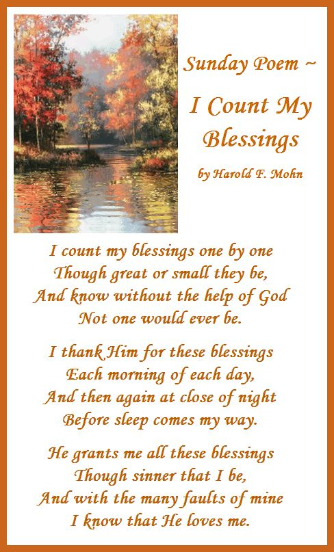 Centerblog.net sunday autome morning gifs   Sunday Poem - I Count My Blessings Pictures, Photos, and Images for ...